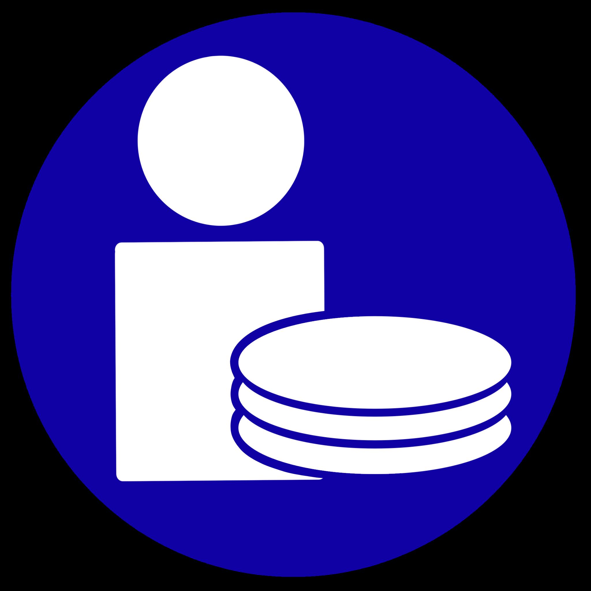 Icono que representa la imputación de costes a pacientes