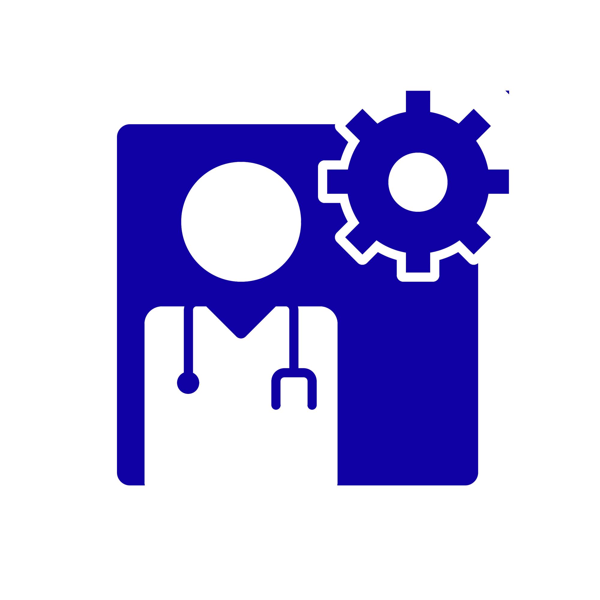 Icono representando la atención especializada con fondo blanco
